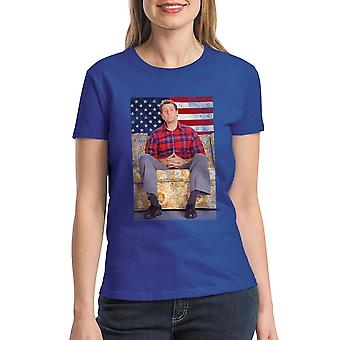Married With Children Presidential Sofa Women's Royal Blue T-shirt