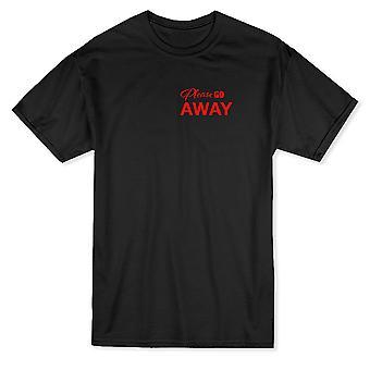 Bitte gehen Sie Weg Grafik Herren T-shirt