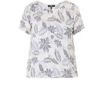 Yest Soft Blue Floral Print Top