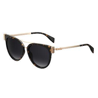 Moschino MOS023/S 086/9O Dark Havana/Dark Grey Gradient Sunglasses