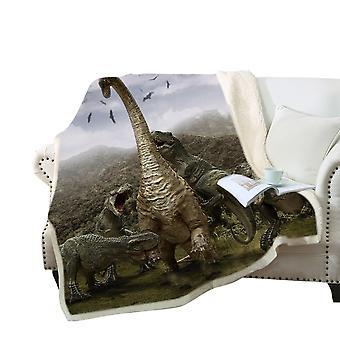 Couverture imprimée 3D de dinosaure Polyester couverture polyvalente de haute qualité