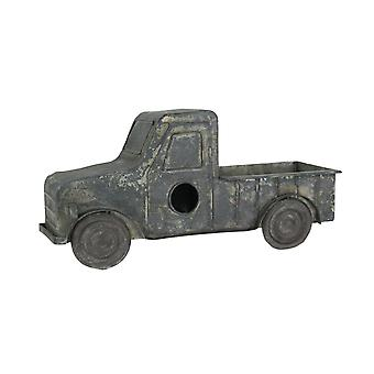 Rustic Distressed Metal Retro Pickup Truck Hanging Birdhouse