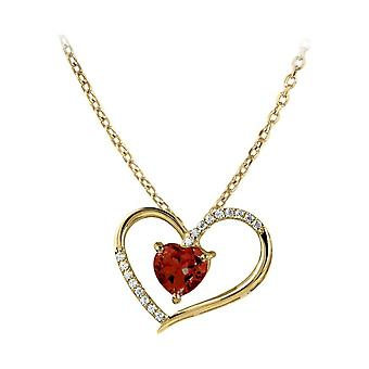 Jacques Lemans - Chain sterling silver plated with garnet - SE-C118H