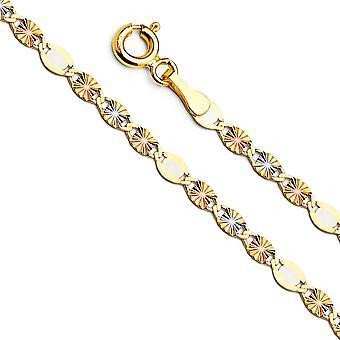 14 k Gelbgold Gelbgold Weißgold und Rose Gold flach Valentino Alt Stern funkeln geschnitten 1,7 mm Halsschmuck Geschenke für W