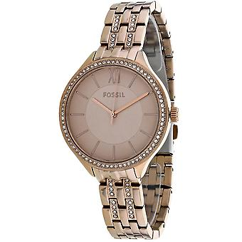 Fossil Women's Suitor Rose Gold Dial Watch - BQ3472