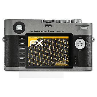 atFoliX Glass Protector compatible with Leica M-E Typ 240 Glass Protective Film 9H Hybrid-Glass