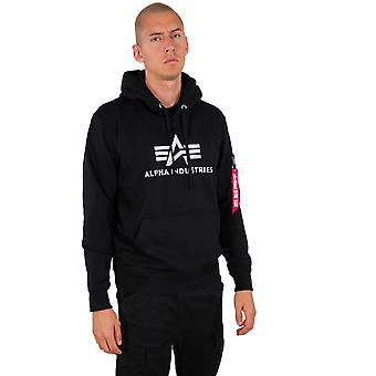 Alpha Industries férfi kapucnis pulóver 3D logo