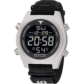 KHS - Men's Watch - Inceptor Steel Digital Natoband Black- KHS. INCSD. NXT7