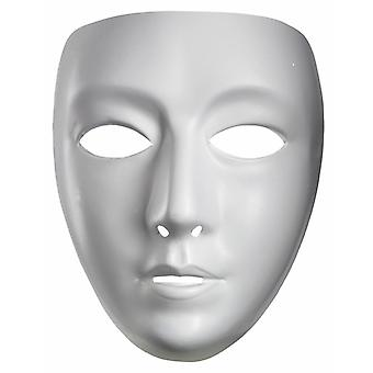 Jabbawockeez Blank Female Drama Costume White PVC Women Mask