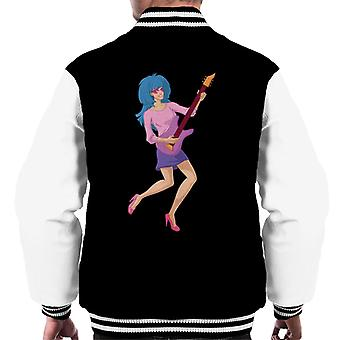 Jem And The Holograms Holding Guitar Men's Varsity Jacket