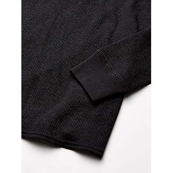 エッセンシャルウーマン&アポスのサーマルロング下着セット、ブラック、XX-ラージ