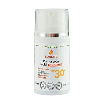 Tinted Facial Sun Cream SPF 30+ with Mineral Filters None