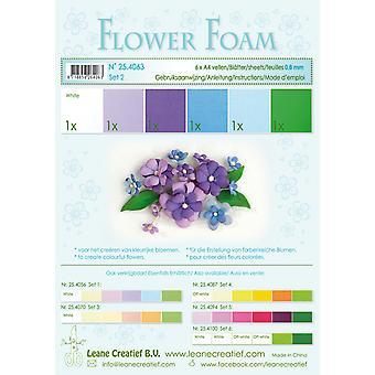 ליאן Creatief פרח קצף A4 סט 2 כחול סגול