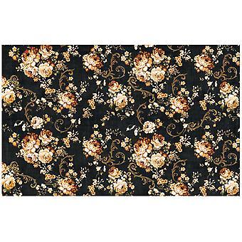 Re-diseño con Prima Dark Floral 19x30 pulgadas Découpage Decoración Papel de tejido