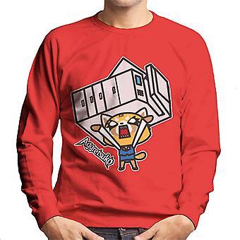 Aggretsuko Retsuko Rage Lifting Copy Machine Men's Sweatshirt
