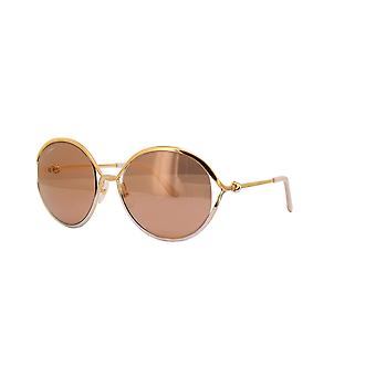 Cartier CT0226S 002 Gold/Brown Mirror Sunglasses