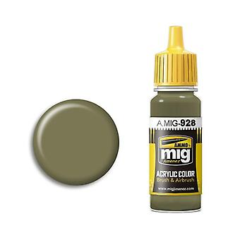 Ammo by Mig Acrylic Paint - A.MIG-0928 Olive Drab  High Lights (17ml)