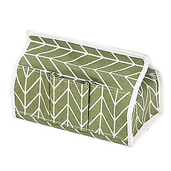 Cotton Tissue Box 25.5x14x17.5cm Green