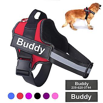 Dog Harness No Pull Reflective Breathable Adjustable Pet Harness For Small Large Dog Harness Vest With Custom Patch