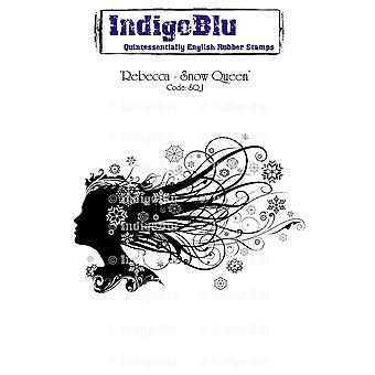 IndigoBlu Rebecca - Snow Queen Mounted A6 Rubber Stamp