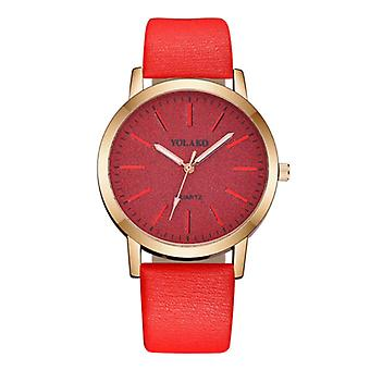 Yolako Quartz Watch Ladies - Anologue Luxury Movement for Women Red