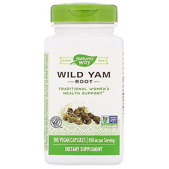Nature's Way, Wild Yam Root, 850 mg, 180 Vegan Capsules