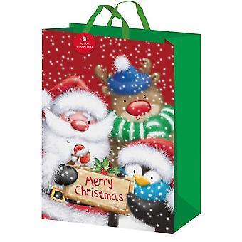 I G Design Traditional Christmas Gift Bag