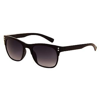 Gafas de sol Unisex negro mate con lente gris (8220 P)