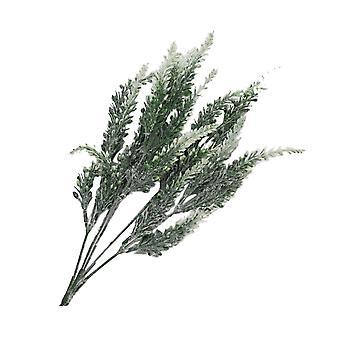 12pcs keinotekoinen laventeli kimppu decration valkoinen ja vihreä