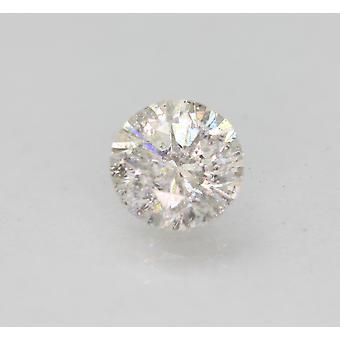 認定 0.94 カラット F SI2 ラウンド ブリリアント エンハンスナチュラルルーズ ダイヤモンド 6.22mm