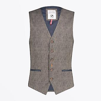 A Fish Named Fred  - Woven Waistcoat - Brown