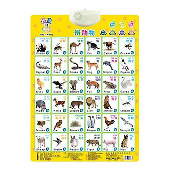 Language Learning English-chinese Bilingual Baby Education Learning Machine Toy Alphabet Music Phonics Wall Hanging Chart