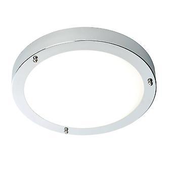 Endon Portico - SALLE DE BAINS LED Flush Plafond Light Chrome, Verre givré IP44