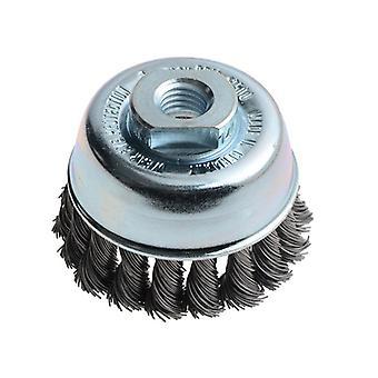 Lessmann Knot Cup Brush 65mm M14 x 0.50 Steel Wire LES482217