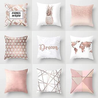 Nordischen Stil Pflanze Brief Blume geometrische Sofa Kissen, Kissen, Party