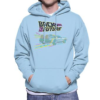 Back to the Future Delorean Neon Time Machine Men's Hooded Sweatshirt