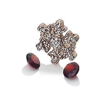 Anais Diamantes Calientes Anais Oro Rosa Plateado Copo de Nieve Encanto AC109