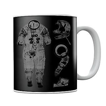 NASA Apollo 14 A7 L Pressure Suit Negative X Ray Mug