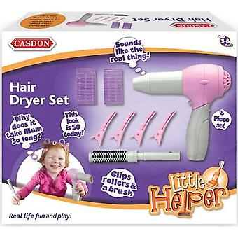 Casdon Little Helper Hair Dryer Kit Toy Hair Dryer With Realistic Sounds