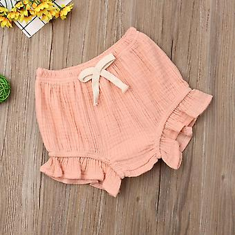 Recém-nascida baby girl cotton ruffle shorts pppants nappy fralda capa