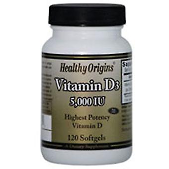 Healthy Origins Vitamin D3 5000 IU, 120 Soft Gels