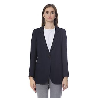 Peserico Blue Classic Gestructureerde Single Breasted Blazer