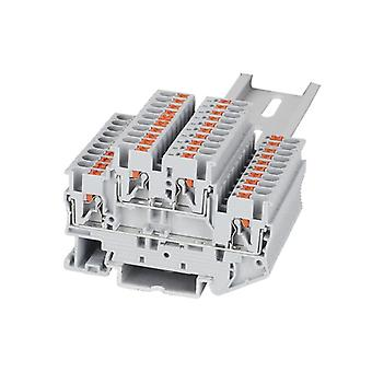Din Rail Electric Wire Connector Terminal Block-double Layer