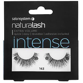 Salon System  Naturalash - Intense - No 143 Reusable Eyelashes - (adhesive Included)