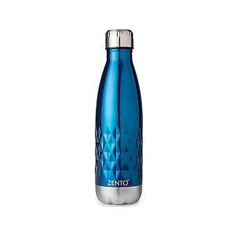 Zento Diamond Vacuum Stainless Steel Water Bottle Blue 13360