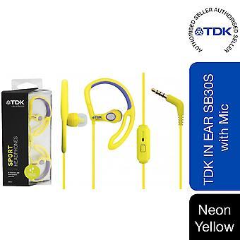TDK Sport Headphones with Mic Neon, Yellow