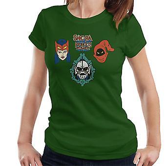 She-Ra Princess Of Power Character Heads Women's T-Shirt