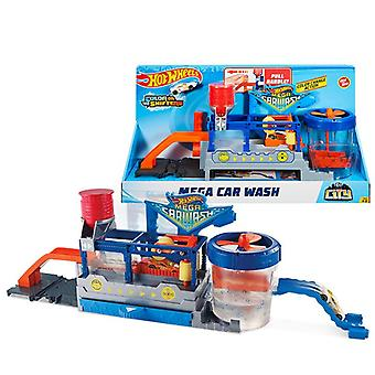 Original Hot Wheels Car Track City Mega Car Wash Station With Diecast Color