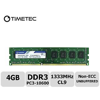 Timetec hynix ic ddr3 pc3-10600 non ecc unbuffered 1.35v/1.5v dual rank 240 pin udimm desktop pc com