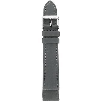 GV2 18mm grau Wildleder Lederband Edelstahl Schnalle